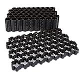 5 Stück Kunststoff Rasengitter Platte 60 x 40 x 3,5 cm Schwarz