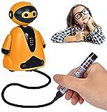 Smart Pen Tracing Robot, induktiver liniengezogener Roboter, induktives Drawbot-Spielzeug für Kinder, pädagogisches Folgen der gezogenen Linie für Kinder, fördert das Logik (Orange)
