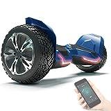 8.5' Premium Offroad Hoverboard Bluewheel HX510 SUV Deutsche Qualitäts Marke- Kinder Sicherheitsmodus & App - Bluetooth - Starker Dual Motor - Elektro Skateboard Self Balance Scooter (Blue)