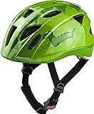 ALPINA Unisex - Kinder, XIMO FLASH Fahrradhelm, green dino, 49-54 cm