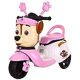 YUKM 3-Rad-Kindermotorrad-Dreicrycle-6V-Batteriebetriebene Reitspielzeug Für Jungen Und Mädchen Im Alter Von 2-5, Geschenken Für Kinder,Rosa