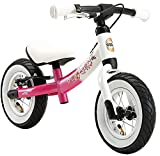BIKESTAR Mitwachsendes Kinder Laufrad ab 2 - 3 Jahre | 10 Zoll Sport Lauflernrad | Pink Weiß