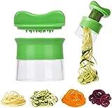 JINTY Hand-Gemüseschneider, Edelstahl, Spiralschneider für Zucchini-Nudeln, Spaghetti, Low Carb