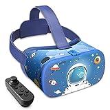 DESTEK VR Dream für Kinder Geschenk,110°FOV, Anti-Blaulicht HD Virtual Reality Headset mit Bluetooth-Fernbedienung,Lernspielzeug für 5,6,7...12 Jahre,Lernspiel für Jungen Mädchen
