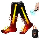 Beheizte Socken, beheizbar, elektrisch, mit Lithium-Akku, USB, Herren und Damen, 2600 mAh, 3,7 V, mit Fernbedienung, beheizbar, waschbar, für Radfahren, Skifahren, Motorrad
