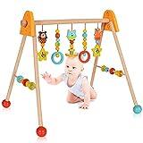 LCP Kids Baby Spielbogen Holz Trapez, Hängespielzeug höhenverstellbar