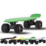 RROWER Komplette 22-Zoll-Mini-Cruiser-Skateboard für Anfänger, Kunststoff-Skateboard-Geschenk-Mini-Standard-Skateboards mit hohen Rebound-PU-Rädern, Penny-Board süß für Mädchen Jungs,I
