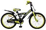 Amigo BMX Turbo - Kinderfahrrad für Jungen - 20 Zoll - mit Handbremse, Rücktritt, Lenkerpolster und fahrradständer - ab 5-9 Jahre - Schwarz