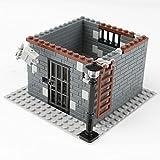 Myste Militär Bausteine, WW2 Militär Szene Gefängnis Modell für Soldaten Mini Figuren Polizei SWAT Team, Architektur MOC DIY Spielzeug Kompatibel mit Lego Minifiguren