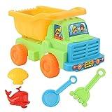 LULE Sandspielzeug-Set für Kinder, 6 Stück, Sandspielzeug, Schloss und Tierformen, Strandschaufel, umweltfreundlich, Sandkasten-Spielzeug, Sandkasten-Set für Kinder, Sommer, Strand