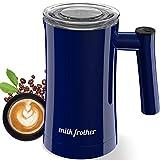 Milchaufschäumer 350ML Elektrischer Milchschäumer 400W Erhitzen und Aufschäumen für Heiße und Kalte Milch Edelstahl Automatischer Milchaufschäumer Leise mit Antihaftbeschichtung für Latte, Cappuccino