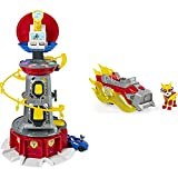 PAW Patrol 6053408 Mighty Pups Lifesize Lookout Tower Zentrale - 70 cm groß & 6056841 Marshalls Mighty Pups Charged Up Themed Basis Fahrzeug mit Figur