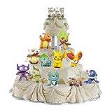 HANEL 24Stück Pokemon Cake Toppers Pikachu Kuchendekoratio für Kinder,Cupcake Figuren für Geburtstags Party Liefert,Kinder Party Kuchen Dekoration Lieferungen für Kinder Geburtstag Baby Mädchen