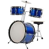 Schlagzeug Komplettset,Drum Kit 16 Zoll Junior Kinder Schlagzeug Drumset mit Hocker und viel Zubehör für Kinder von 3 bis 9 Jahren