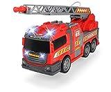 DICKIE 203308371 Toys Fire Fighter, Feuerwehrauto, Spielzeugauto, Feuerwehr, mit Wasserspritzfunktion, Leiter, Seitenpanel zum Öffnen, Licht & Sound, inkl. Batterien, 36 cm groß, ab 3 Jahren