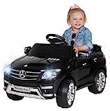 Kinder Elektroauto Mercedes ML 350 Original Lizenz Auto 2X 25 Watt Motor Kinderauto Kinderfahrzeug Elektroauto (Schwarz)