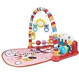 Appoo Baby Speicherecke mit Musik und Licht Baby Spielmatte Musik ErlebnisDecke Fitness Krabbeldecke mit Weichem Spielbogen und Klavier Spielbogen mit 5 Abnehmbaren Spielzeugen ab 0 Monaten remarkable
