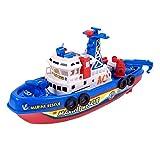 QHYZRV 2,4 GHz Hochgeschwindigkeits-Schnellboot, Feuerwehrboot, Sommerwasser-Kinder-Elektrospielzeug, Seemodell, Wettbewerbsboot, Geeignet Für Schwimmbäder Und Seen, Ferngesteuerte Boote Für