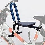 Kinderfahrradsitz Tragbar Einziehbar Faltbare Frontmontage Fahrrad Kindersitz mit Handlauf Pedale Verstellbarer Kinderfahrradträger Fahrradzubehör für Mountainbikes, Faltbares Fahrrad