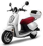 Elektroroller Elettrico Li, 1200 Watt, bis zu 60 km Reichweite, E-Moped, E-Mofas, mit Straßenzulassung, 25 km/h, herausnehmbarer Lithium-Akku, Produktvideo Weiß