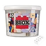 Simba 104118890, Blox, 40 weiße Klemmbausteine für Kinder ab 3 Jahren, 8er Steine, inklusive Dose, hohe Qualität, vollkompatibel mit anderen Herstellern
