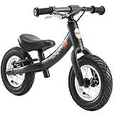 BIKESTAR Kinder Laufrad Lauflernrad Kinderrad für Jungen und Mädchen ab 2 - 3 Jahre | 10 Zoll Sport Kinderlaufrad | Schwarz (matt) | Risikofrei Testen