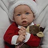 chisatowww Reborn Baby Dolls, Realistische Silikon Vinyl Weiches Baby Handgemachte Reborn Puppen Lebensechte Neugeborene Reborn Kleinkind Jungen Mädchen Spielzeug