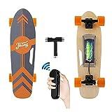 CAROMA Elektrisches Longboard Skateboard, 20 km / h, 6-8 Meilen Reichweite, 350 W Motor Elektro Skateboard, Elektro Longboard mit Fernbedienung für Erwachsene Jugendliche