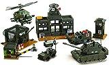 Sluban SL93861, Hauptquartier Set (1086 Teile) [M38-B7100], Spielset, Klemmbausteine, Soldaten, mit Spielfigur, Army, Mehrfarbig