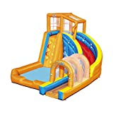 BESTWAY 53303 H2OGO Wasserpark mit Dauergebläse Hurricane Tunnel Blast, Mehrfarbig, 420x320x260 cm