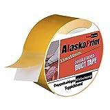 Alaskaprint Doppelseitiges klebeband extra stark Beidseitiges doppelseitiges Verlegeband Teppichband für alle Teppiche, Fußbodenheizung, PVC Beläge und Räume geeignet I 50mm x 25m
