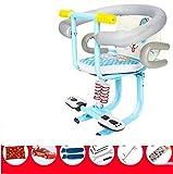 ZTHL Günstige Reinigung Elektroauto Front Kindersitz Elektrische Motorradsitz Vordere Kindersitz Kinderbremse erfüllt die Sicherheit von CD50 Q02 Nicht (Color Name : Blue)