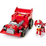 PAW Patrol Marshalls Race & Go Deluxe Basis Fahrzeug mit Figur (Ready, Race, Rescue)