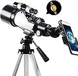 Waqihreu Teleskop,Teleskope für die Astronomie,Teleskop Tragbares Zielfernrohr für Kinder Erwachsene Anfänger,Teleskop mit verstellbarem Stativ und Telefonadapter