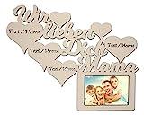 Mama Geschenke Geschenkideen Danke das es Dich gibt zum Mutter-Tag Geburtstag-sgeschenke Beste personalisiert mit Namen Gravur Bilderrahmen 10 x 15 cm Ich Wir lieben Dich