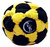 Pro Hacky Sack 32 Paneelen (Schwarz/Gelb) Profi Freestyle Footbag! Hacky Sack für Anfänger und Profis, ideal für Stände, Fänge, Verzögerungen u. Tritte!