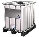 DIE BOX FABRIK IBC Container 1000 Liter NEU | auf PE-Palette | Einfüllöffnung: 225 mm | Schiebehahnventil 50mm | IBC Tank | Wassertank | Regenwassertank