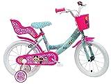 Denver Bike 16 LOL Citybike 40,6 cm (16 Zoll) Stahl Rosa, Türkis, Weiß Mädchen - Fahrrad (vertikal, Stadt, 40,6 cm (16 Zoll), Stahl, Rosa, Türkis, Weiß, 40,6 cm (16 Zoll)