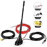 DAB Antenne Autoantenne SMB-Adapter, Booster-Verstärker mit 5 m/16.4ft Verlängerungskabel für FM AM/DAB + Radio Pioneer, Blaupunkt, Clarion, JVC, Sony