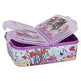 Frozen 2 - Die Eiskönigin II Anna und Elsa Kinder Premium Brotdose Lunchbox Frühstücks-Box Vesper-Dose mit 3 Fächern