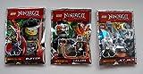 3 Lego Figuren Ninjago Buffer, Jet Jack, Talon mit Waffen Neu Ninja Drachenjäger Figuren Ovp Limited Edition