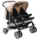 Susany Zwillingskinderwagen Babybuggy Babywagen Geschwisterwagen für Babys und Kleinkinder nebeneinander,Rückenlehne in 3 Positionen verstellbar,Maße: 93 x 68 x 103 cm (L x B x H)