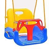 Gartenwelt Riegelsberger Premium 3 in 1 Babyschaukel Babysitz Schaukelsitz Schaukel für Babys & Kleinkinder und Jugendliche Farbe blau