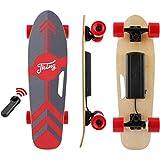 Tooluck Elektro Skateboard 77cm mit Drahtloser Bluetooth Fernsteuerung, Elektrisch Longboard mit PU Räder für Teenager und Erwachsene, 20KPH MAX Geschwindigkeit, 350W Nabenmotoren
