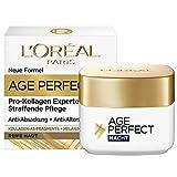 L'Oréal Paris Straffende Nachtpflege für reife Haut, Anti-Aging Feuchtigkeitspflege gegen Altersflecken, Mit Kollagen-AS-Fragmenten, Age Perfect Pro-Kollagen Experte, 50 ml