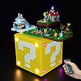LOTFUN LED Licht Kit, Beleuchtungsset Light für Lego 71395 Super Mario 64 Question Mark Block (nur Led enthalten, KEIN Lego-Kit) - Fernbedienung Version