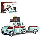 Lesdiy Technik Picknick Auto Klemmbausteine Bausatz, Technik Picknick Fahrzeug mit Anhänger und Viele Picknick Utensilien Kompatibel mit Lego Technik - 1475 Teile