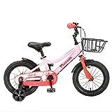 FUFU 14/16 Inch Kinder Fahrrad, Geeignet for Jungen Und Mädchen Im Alter Von 3-8, Grün, Rosa (Color : Pink, Size : 16in)
