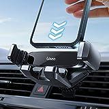 LISEN Handyhalterung Auto lüftung, Gravity handyhalterung Auto Einzigartiger Clip kfz handyhalterung Automatischer Spannarm Kompatibel mit alle Smartphones