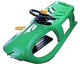 Ondis24 Schlitten Bullet Control für Kinder Rodel mit Metallkufen Rennrodel Bob mit Zugseil und Lenkrad für Kinder ab 3 Jahre (Grün)